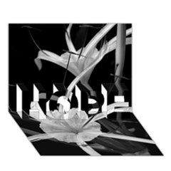 Exotic Black And White Flowers Hope 3d Greeting Card (7x5)