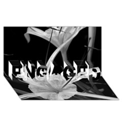 Exotic Black and White Flowers ENGAGED 3D Greeting Card (8x4)