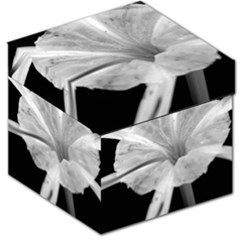 Exotic Black and White Flower 2 Storage Stool 12