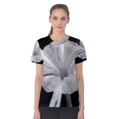 Exotic Black and White Flower 2 Women s Cotton Tees