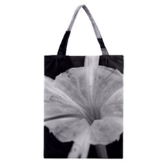 Exotic Black And White Flower 2 Classic Tote Bags
