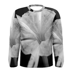 Exotic Black and White Flower 2 Men s Long Sleeve T-shirts