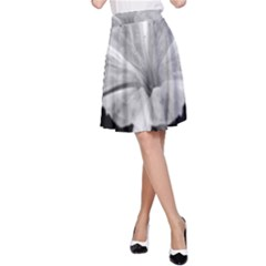 Exotic Black and White Flower 2 A-Line Skirts
