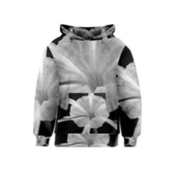 Exotic Black and White Flower 2 Kid s Pullover Hoodies