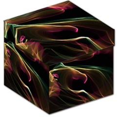 Glowing, Colorful  Abstract Lines Storage Stool 12