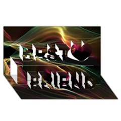 Glowing, Colorful  Abstract Lines Best Friends 3d Greeting Card (8x4)