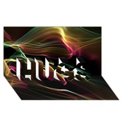 Glowing, Colorful  Abstract Lines Hugs 3d Greeting Card (8x4)