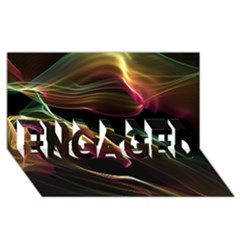 Glowing, Colorful  Abstract Lines Engaged 3d Greeting Card (8x4)