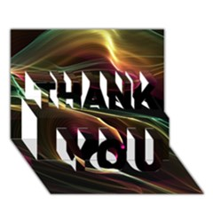 Glowing, Colorful  Abstract Lines Thank You 3d Greeting Card (7x5)