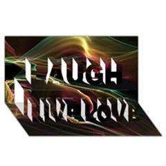 Glowing, Colorful  Abstract Lines Laugh Live Love 3D Greeting Card (8x4)