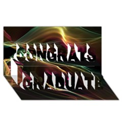 Glowing, Colorful  Abstract Lines Congrats Graduate 3D Greeting Card (8x4)