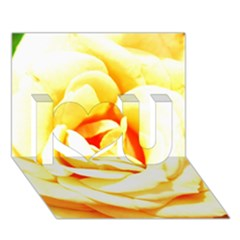 Orange Yellow Rose I Love You 3d Greeting Card (7x5)
