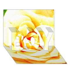 Orange Yellow Rose BOY 3D Greeting Card (7x5)