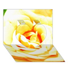 Orange Yellow Rose Heart 3D Greeting Card (7x5)