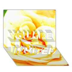 Orange Yellow Rose You Are Invited 3d Greeting Card (7x5)