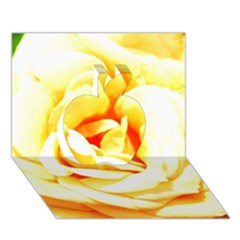 Orange Yellow Rose Apple 3D Greeting Card (7x5)