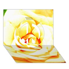 Orange Yellow Rose Peace Sign 3D Greeting Card (7x5)