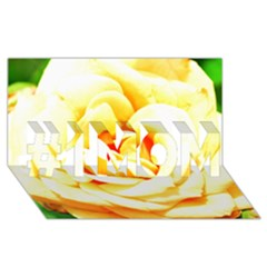 Orange Yellow Rose #1 MOM 3D Greeting Cards (8x4)