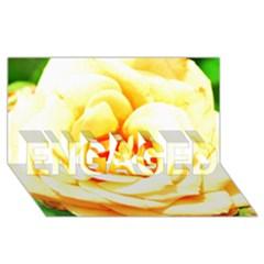 Orange Yellow Rose Engaged 3d Greeting Card (8x4)