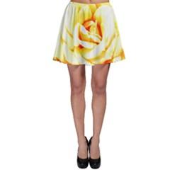 Orange Yellow Rose Skater Skirts