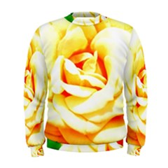 Orange Yellow Rose Men s Sweatshirts