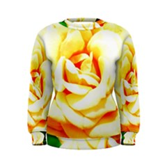 Orange Yellow Rose Women s Sweatshirts