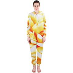 Orange Yellow Rose Hooded Jumpsuit (Ladies)
