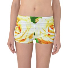 Orange Yellow Rose Boyleg Bikini Bottoms