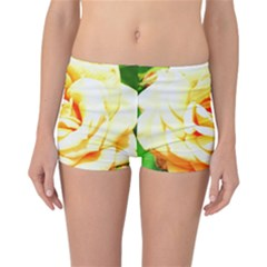 Orange Yellow Rose Reversible Boyleg Bikini Bottoms