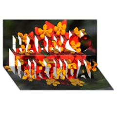 Orange and Red Weed Happy Birthday 3D Greeting Card (8x4)