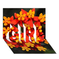 Orange And Red Weed Girl 3d Greeting Card (7x5)