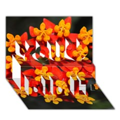 Orange And Red Weed You Did It 3d Greeting Card (7x5)