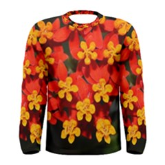 Orange And Red Weed Men s Long Sleeve T Shirts