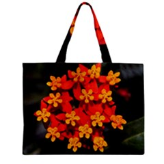 Orange and Red Weed Zipper Tiny Tote Bags