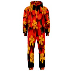 Orange And Red Weed Hooded Jumpsuit (men)
