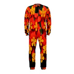 Orange And Red Weed Onepiece Jumpsuit (kids)