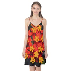 Orange and Red Weed Camis Nightgown