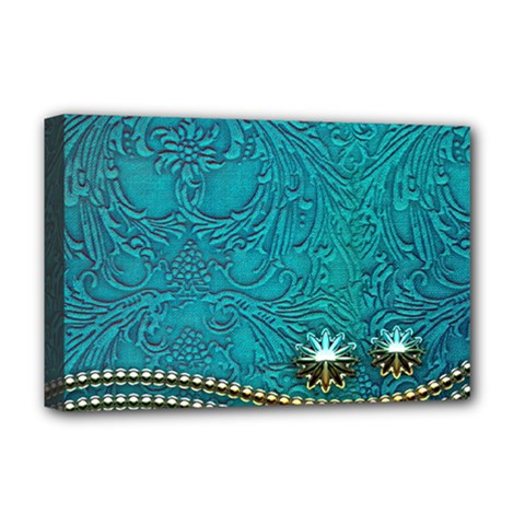 Wonderful Decorative Design With Floral Elements Deluxe Canvas 18  X 12