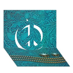 Wonderful Decorative Design With Floral Elements Peace Sign 3d Greeting Card (7x5)