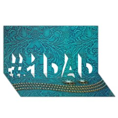 Wonderful Decorative Design With Floral Elements #1 Dad 3d Greeting Card (8x4)
