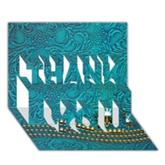 Wonderful Decorative Design With Floral Elements Thank You 3d Greeting Card (7x5)