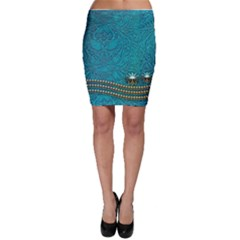 Wonderful Decorative Design With Floral Elements Bodycon Skirts