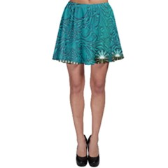 Wonderful Decorative Design With Floral Elements Skater Skirts
