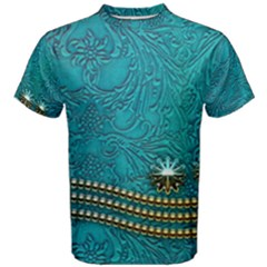 Wonderful Decorative Design With Floral Elements Men s Cotton Tees