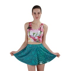 Wonderful Decorative Design With Floral Elements Mini Skirts