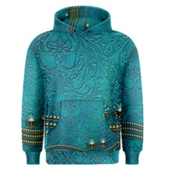 Wonderful Decorative Design With Floral Elements Men s Pullover Hoodies