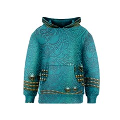 Wonderful Decorative Design With Floral Elements Kid s Pullover Hoodies