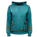 Wonderful Decorative Design With Floral Elements Women s Pullover Hoodies View1