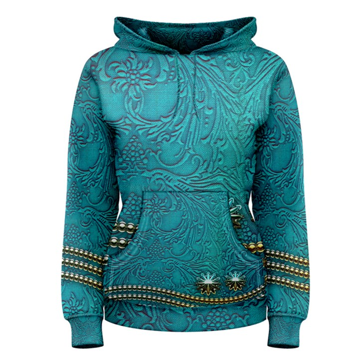 Wonderful Decorative Design With Floral Elements Women s Pullover Hoodies