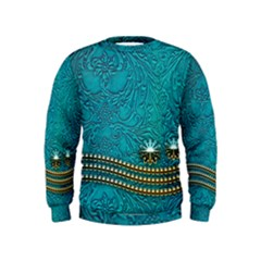 Wonderful Decorative Design With Floral Elements Boys  Sweatshirts